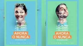 """Dani Rovira i María Valverde na plakatach filmu """"Ahora o nunca"""""""