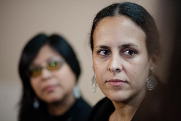 """Enrica Pérez odpowiadała na pytania publiczności po projekcji filmu (fot. WWF) Klimaty WFF: Obiecująca reżyserka Enrica Pérez prezentuje peruwiańskie """"Klimaty"""" enricaperez climas dialogo"""