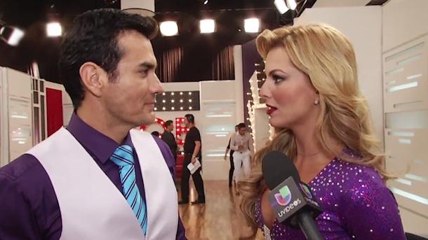 "Sousa i Zepeda spotkali się już za kulisami programu ""Mira quién baila"" (fot. Univision)"
