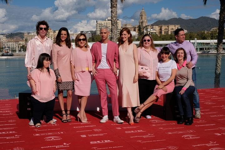 """Ekipa filmu podczas prezentacji na festiwalu w Maladze  ciała """"Ciała"""": Eduardo Casanova zaprasza do swojego świata ciala malaga"""